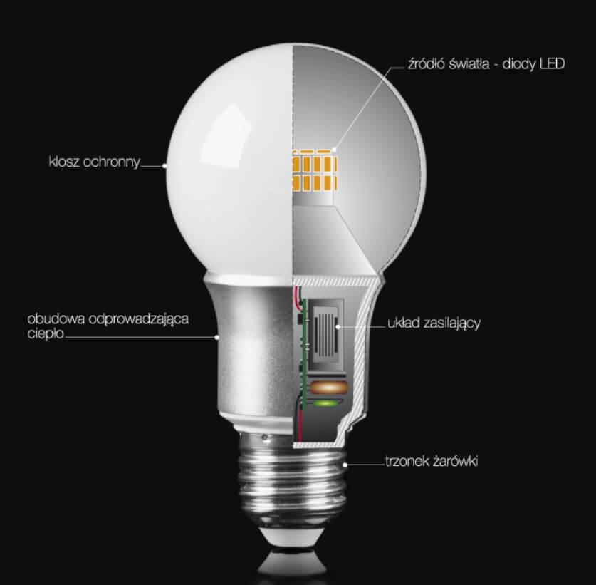 obrazek do artykułu: Budowa żarówki LED